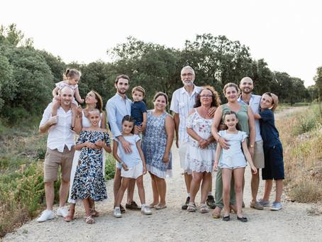 Terre de souvenirs, une séance famille multigénération dans le Gard...