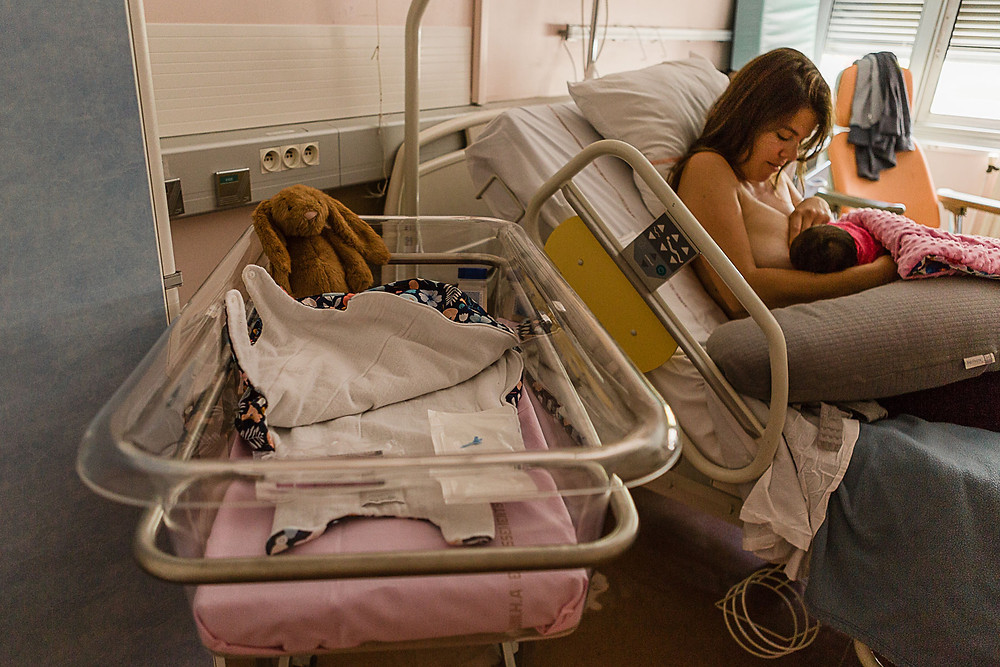 les moments d'où seance naissance en maternite