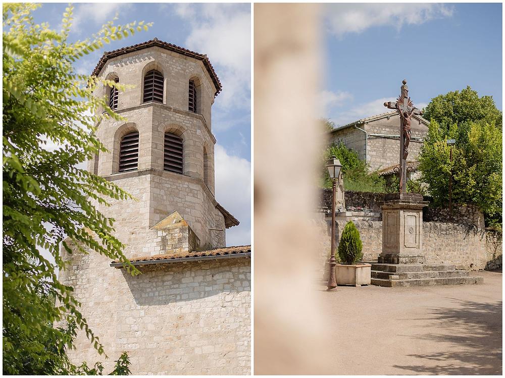 mariage champêtre à l'église de Vieux, Tarn, les moments d'où - photographie