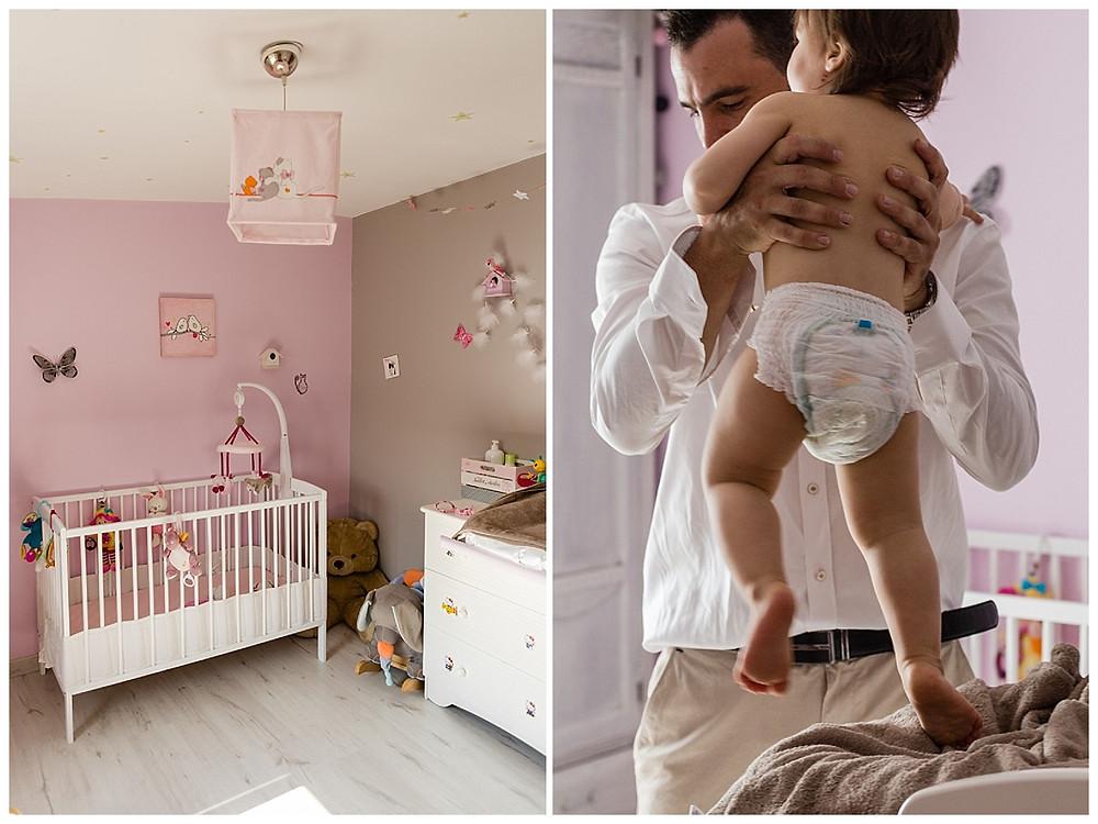 les moments d'ou - photographe bapteme Nimes bebe se prepare