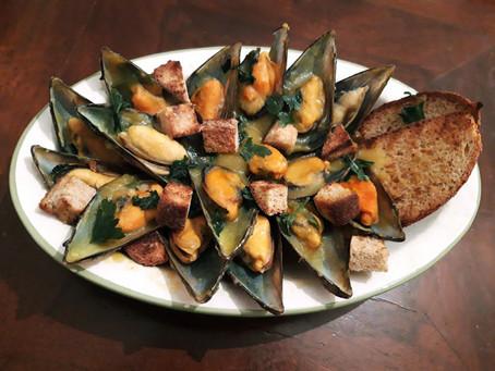 Cozze Speziate al sapor di Curcuma e Curry