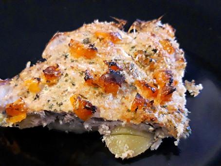 Tortino di alici e patate gratinate al forno