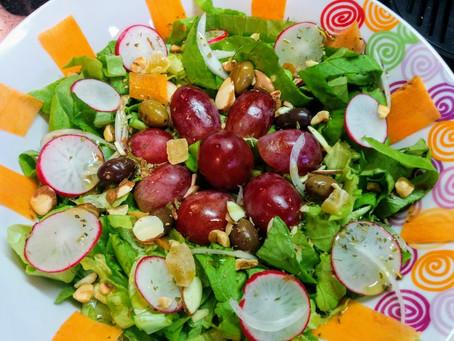 Insalata di Uva, Rapanelli e Frutta Secca
