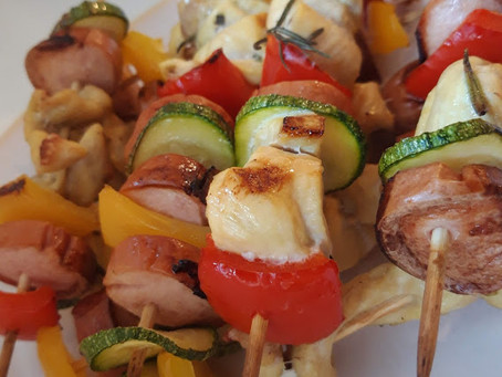 Svuota frigo: Spiedini misti carne e verdure