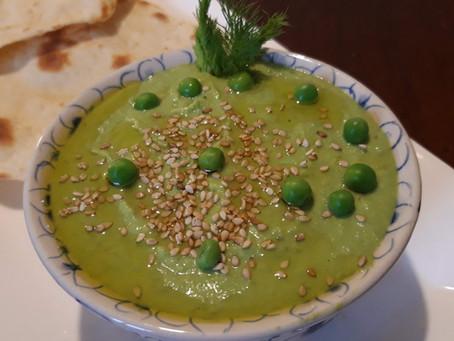 Ricetta veloce Hummus di Piselli alla maggiorana e menta