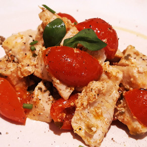 Swordfish with capers and cherry tomatoes