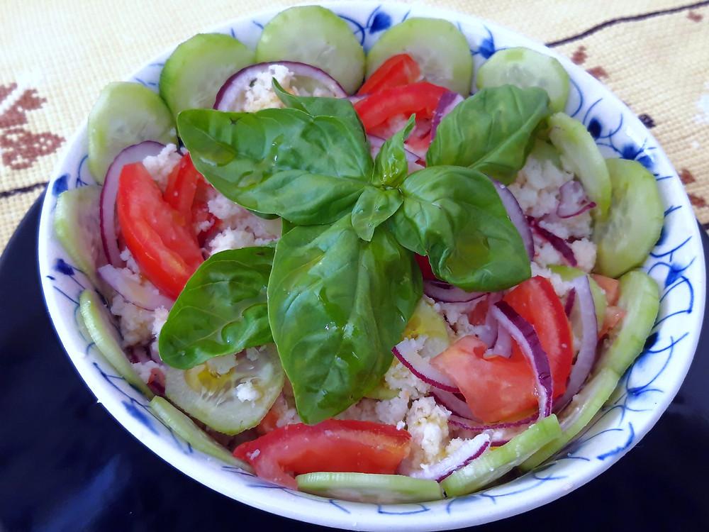 Tuscan recipe Panzanella; amazing cold plate for summer