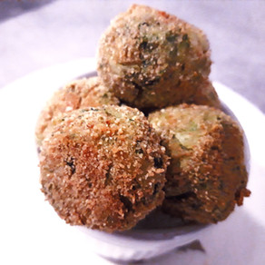 Baked escarole and mint balls, green delights