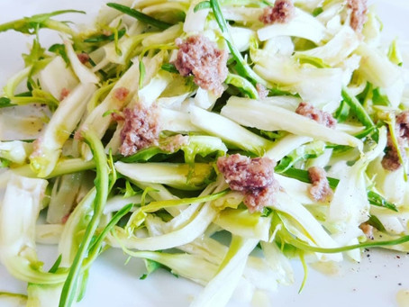 Puntarelle with Anchovies, a tipical Italian spring recipe