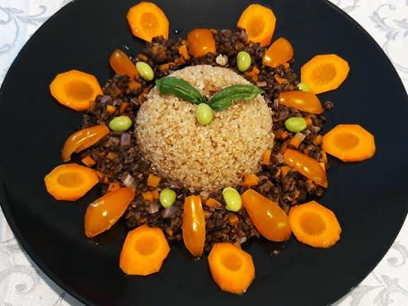 Ricetta: Insalata di Quinoa e Lenticchie nere