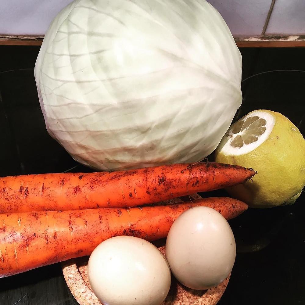 greek style stuffed cabbage (lazy version)