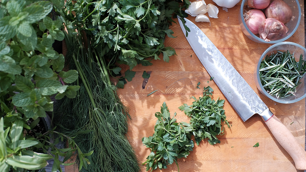 cooking with fresh herbs
