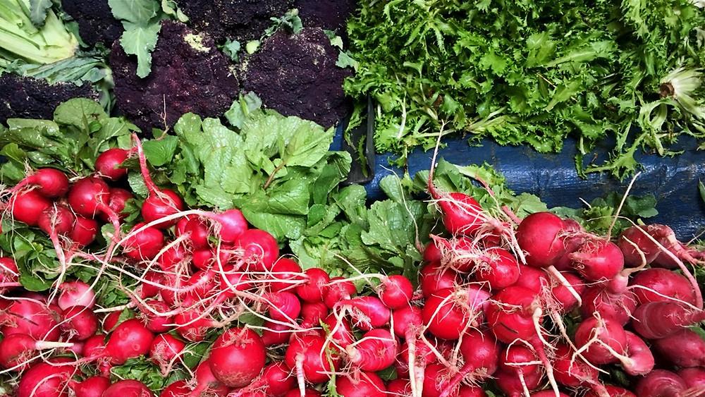 veg stall at athens farmers market (laiki)