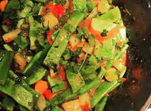 Greek style braised green beans