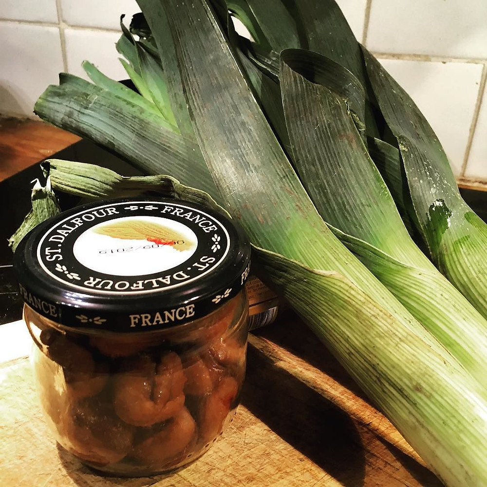 cook fresh: leeks and chestnuts