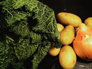 Veg Box Day5: Cabbage soup with chorizo