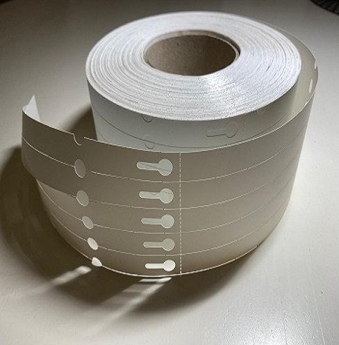 """Th.Transf. Etiķetes """"Loops"""" 15x215mm, 17,90€/1000gb, 2500gb/rull. PE 150micr"""