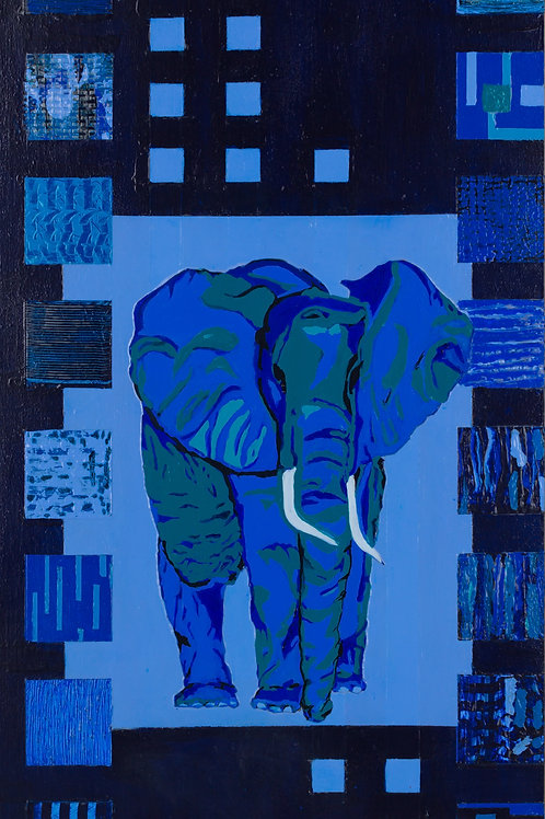 Blue Elephant Cow