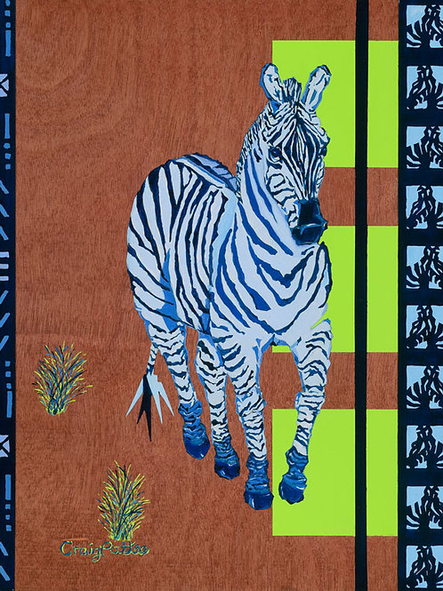 Blue Zebra- Giclee Reproductions
