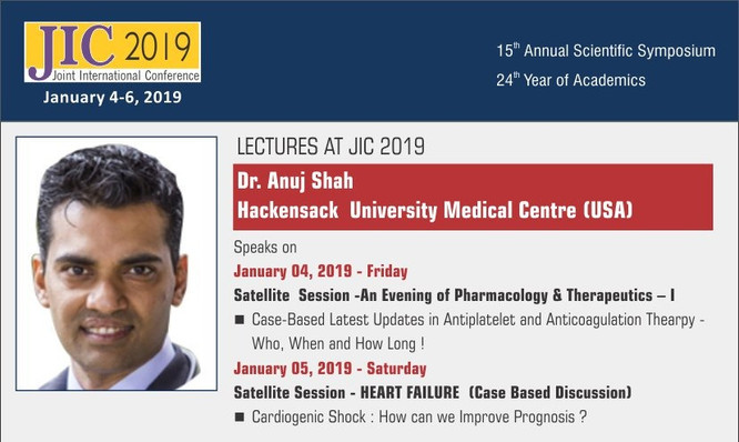 Dr Anuj Shah Joint International Conference