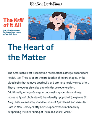krill oil heart health ny times dr. anuj