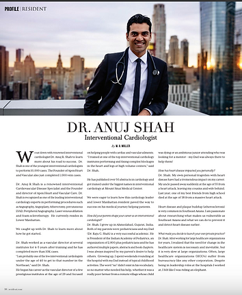 Dr Anuj Shah Interventional Cardiologist