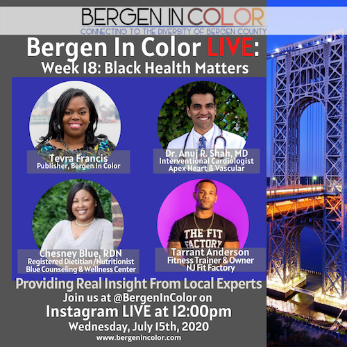 Bergen In Color Dr Anuj Shah African American Health
