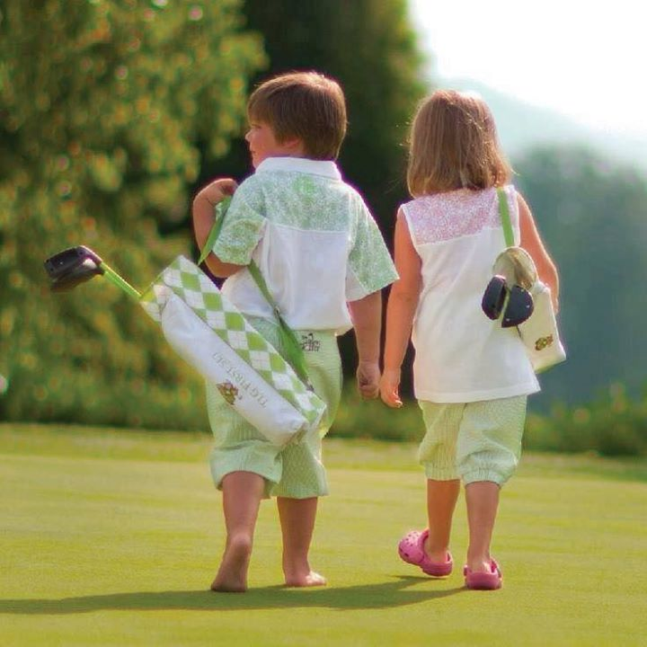 children on the course