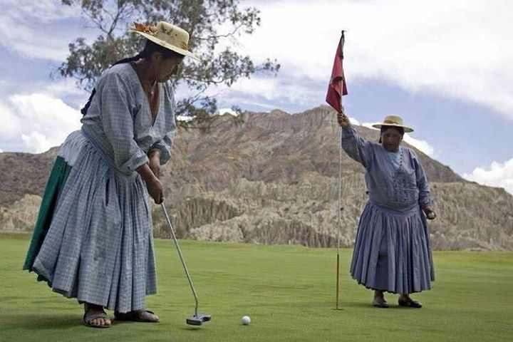 unusual golfers