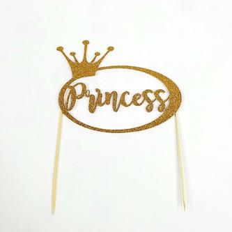 Princess in Circle - Gold Glitter