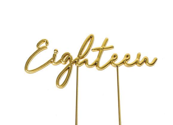 Eighteen Topper (Gold)
