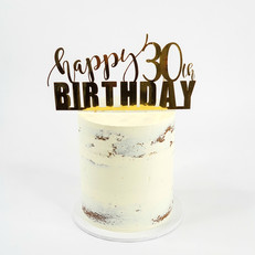 Happy 3oth Birthday - Gold Foil