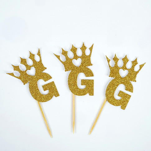 Crown Toppers + Initial