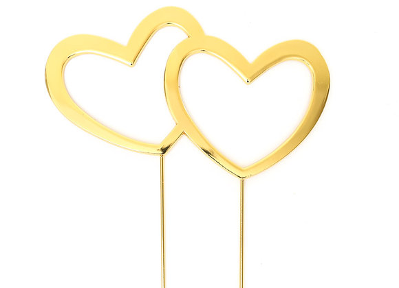 Double Heart Topper (Gold)