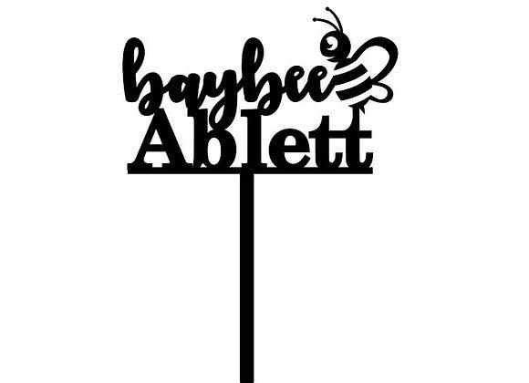 Baybee + Name Cake Topper