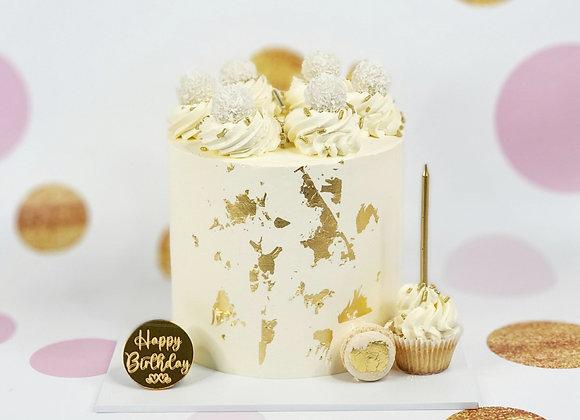 Gold/Silver Leaf Sprinkle Cake