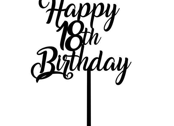 Happy 18th Birthday Cake Topper