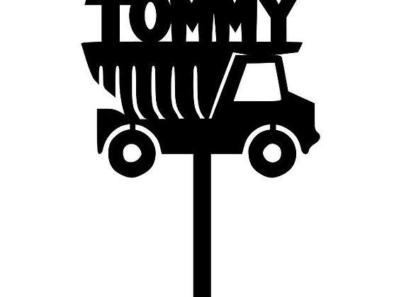 Name + Truck Cake Topper