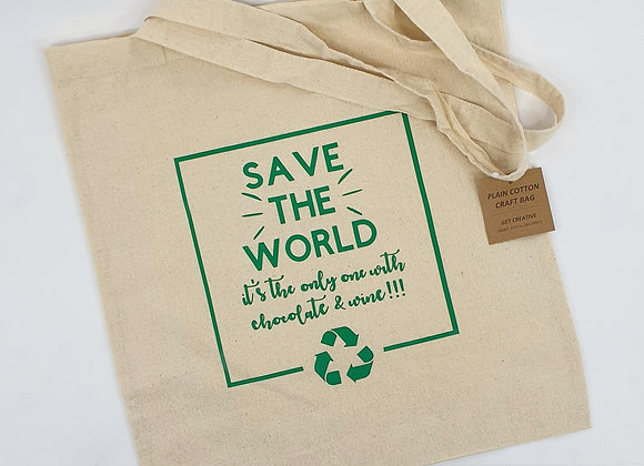 Save the World - Re-Useable Shopping Bag