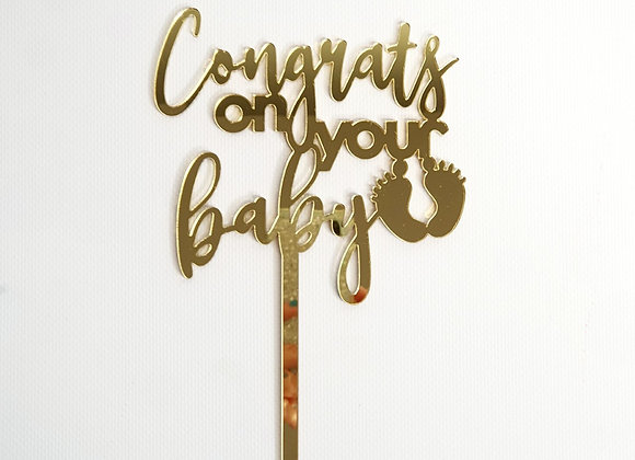 Congrats on your Baby Cake Topper