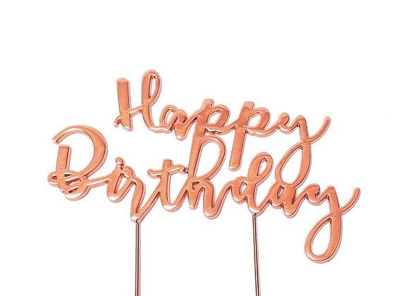 Happy Birthday Topper (Rose Gold)