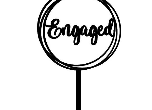 Engaged Circles Cake Topper