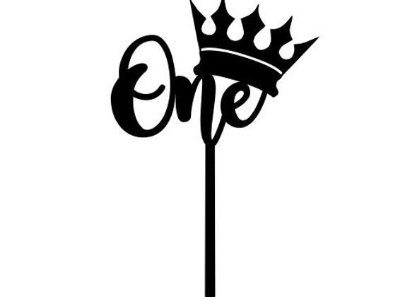 Crowned One Cake Topper