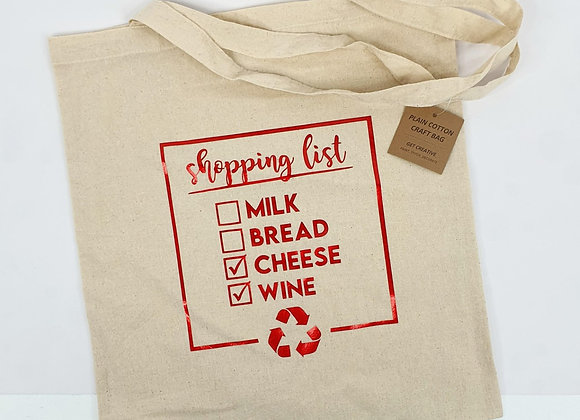 Shopping List - Re-Useable Shopping Bag