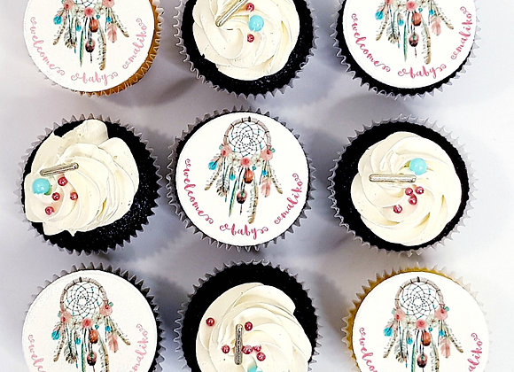 Large Personalised Party or Corporate Cupcakes (1/2 & 1/2)