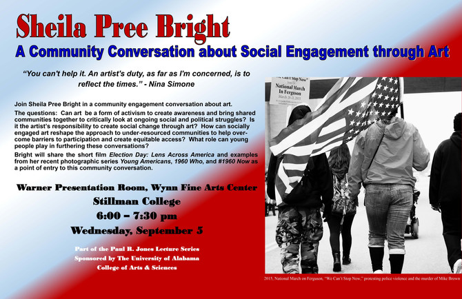Sheila Pree Bright: A Community Conversation about Social Engagement through Art