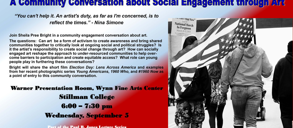 Sheila Pree Bright: A Community Conversation about Social Engagement through Art