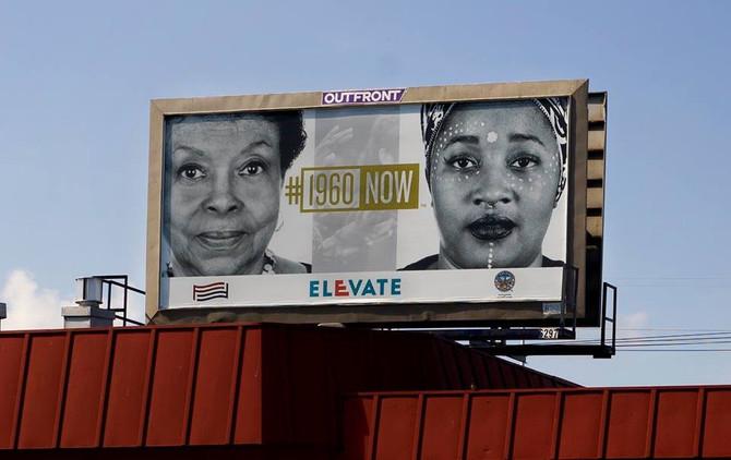 #1960Now Billboard is featured in the Public Art Festival, #ElevateATL SWATS