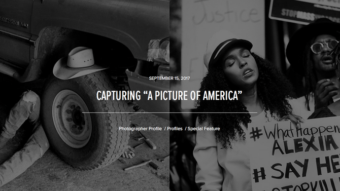 "CAPTURING ""A PICTURE OF AMERICA"""