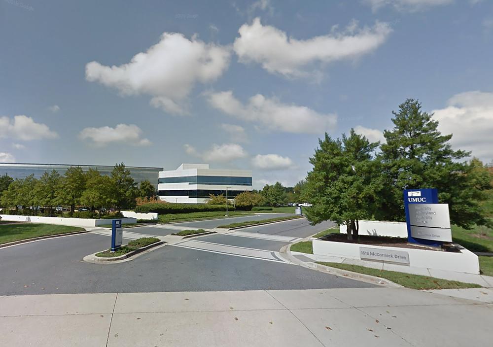 Wide shot of UMGC Campus